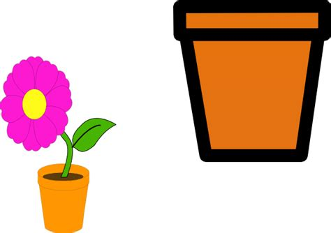 Flower Pot Clipart Flower Pots Clip At Clker Vector Clip