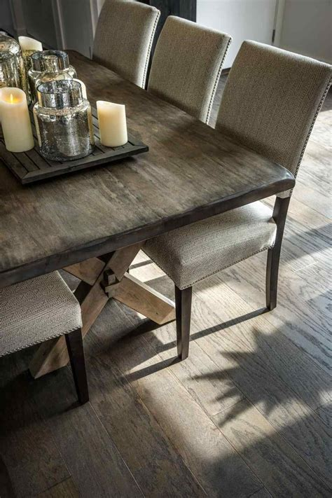 wood dining table with upholstered chairs wood dining and room sets elegant rustic farmhouse table