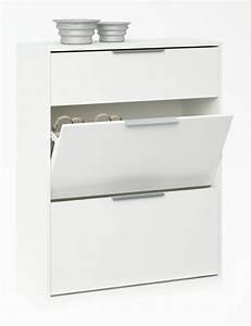 Meuble Chaussure Pas Cher : meuble a chaussure chest blanc l 80 x h 105 x p 35 3 ~ Carolinahurricanesstore.com Idées de Décoration