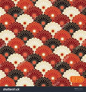 Traditional Japanese Flower Pattern Stock Vector 212930011 ...