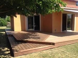 Pose Terrasse Bois Sur Gravier : terrasse en cailloux best lovely la terrasse avec ~ Premium-room.com Idées de Décoration