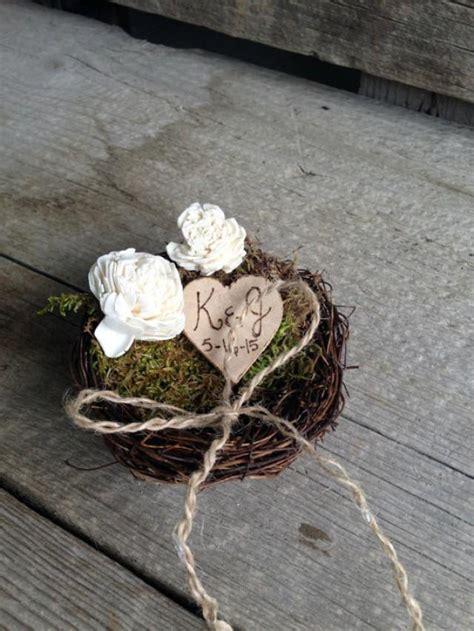 rustic ring bearer birds nest ring bearer pillow rustic ring pillow country wedding pillow
