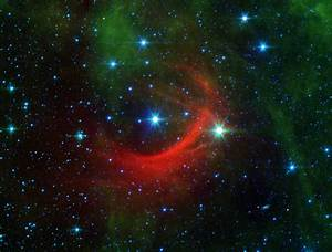 Kappa Cas: Runaway star plows a bow shock in the sky.