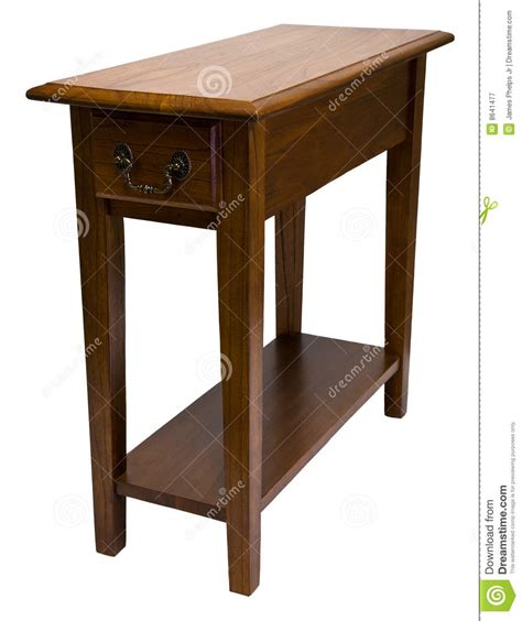 Chair Side Tables Oak by Oak Chair Side End Table Royalty Free Stock Photography