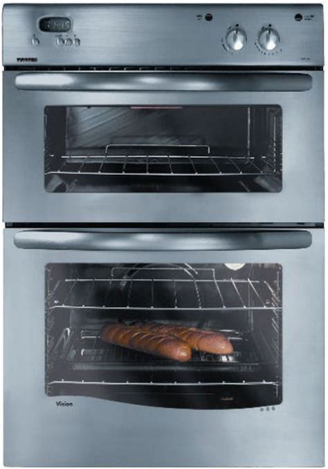 Stainless steel double built in oven and grill from New