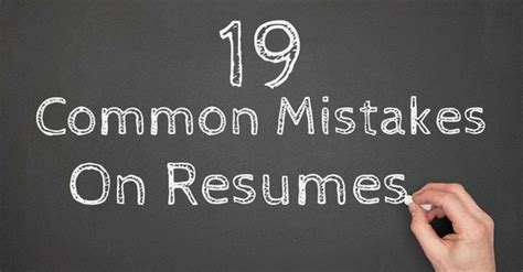 19 most common rookie mistakes made in resumes wisestep