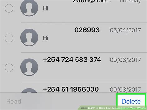 to hide your messages on iphone 4 ways to hide text messages on your iphone wikihow