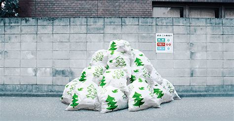 funny garbage bags art weirdomatic