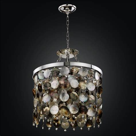 of pearl shell chandelier with black