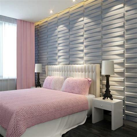 design des chambres à coucher le panneau mural 3d un luxe facile à avoir