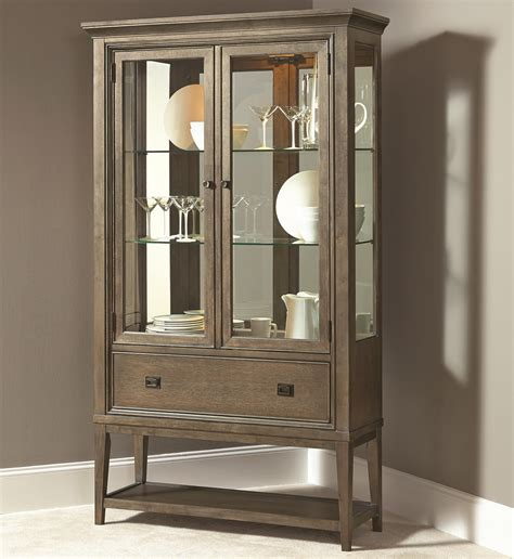 china cabinet with lights contemporary curio china cabinet with 2 glass doors and