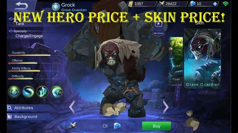 New Hero Grock Price + Skin Price