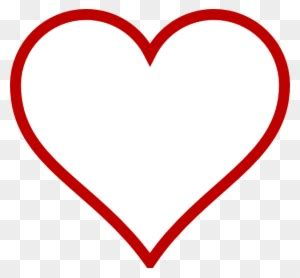big heart shape template  transparent png clipart
