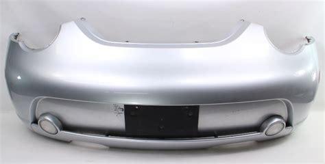 rear bumper cover   vw beetle turbo  law silver genuine    p