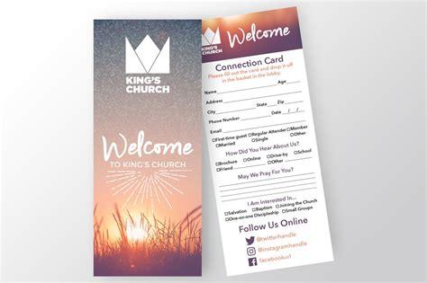 church connection card invitation templates creative