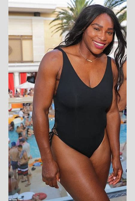 Serena Williams twerks in black swimsuit after getting starstruck by Neymar | Daily Mail Online