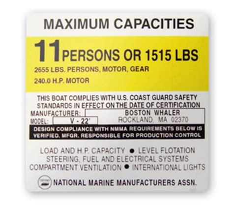 Boat Capacity Rules by Boat Capacity Sticker Replicas Garzonstudio