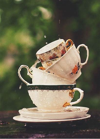 Rain Tea Aesthetic Falling Gifs Magical Cinemagraph