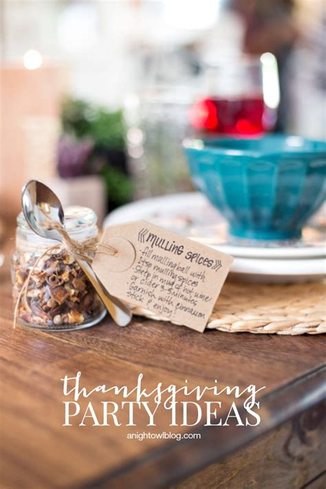 thanksgiving party ideas  night owl blog