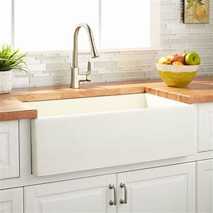 33, U0026quot, Grigham, Reversible, Fireclay, Farmhouse, Sink, -, Biscuit, -, Farmhouse, Sinks