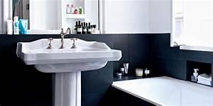 Salle De Bain Noire Et Blanche : salles de bains noires et blanches aux accents r tro nos ~ Melissatoandfro.com Idées de Décoration