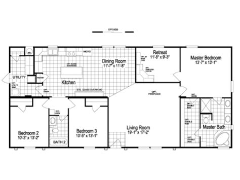 pecan valley p manufactured home floor plan