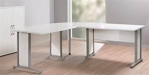 Schreibtisch Weiß Grau : eckschreibtisch prima winkelschreibtisch schreibtisch in wei grau ebay ~ Frokenaadalensverden.com Haus und Dekorationen