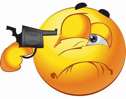 Shoot Eye Smiley Emoji Gun Head Emoticons