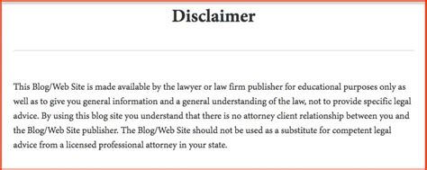 Free Legal Disclaimer Templates & Examples  Download Now