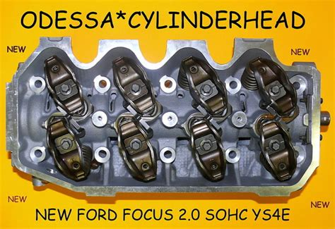 New Fits Ford Focus 20 Sohc #ys4e Cylinder Head Complete