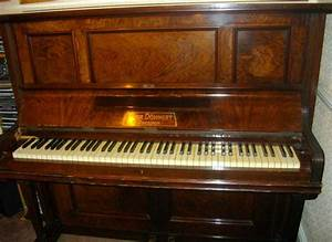 Antique Upright Piano. Gebr. Dohnert Dresden. Joshua ...