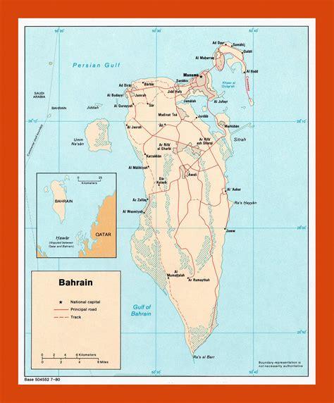Political map of Bahrain - 1980   Maps of Bahrain   Maps ...