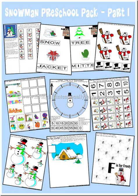 free snowman preschool printable free homeschool