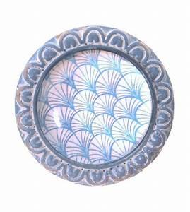 Bouton De Meuble Vintage : bouton de meuble cabochon de verre palmiers bleus ~ Melissatoandfro.com Idées de Décoration