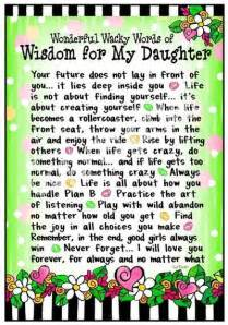 Wacky Words of Wisdom for My Daughter