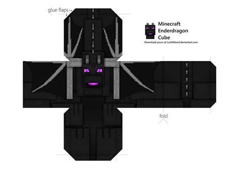 Kleurplaat Minecraft End by Enderdragon Cube Papercraft By Lockrikard On Deviantart