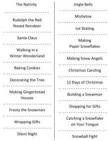 Printable Christmas Charades List