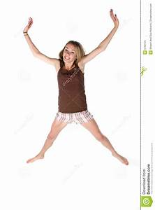 Happy Teen Jumping In The Air Royalty Free Stock Photo ...