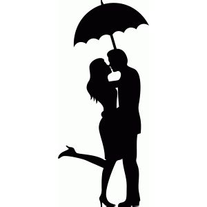 Silhouette Design Store   View Design #72289: umbrella kiss