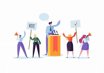Meeting Vote Election Political Vector Speech Voting