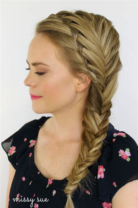 plait hair style different styles to make fishtail braids for 5053