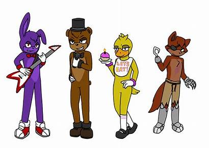 Fnaf Sonic Versions Chica Freddy Bonnie Fan