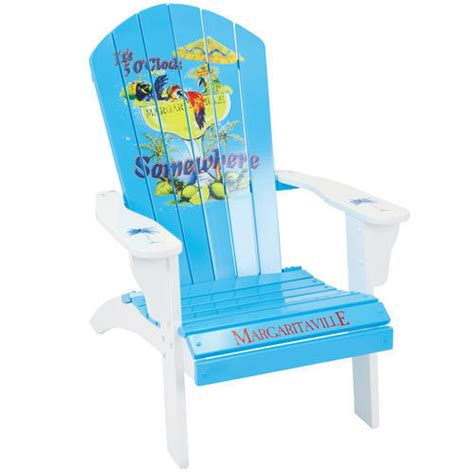 margaritaville 174 quot it s 5 o clock quot wood adirondack chair at