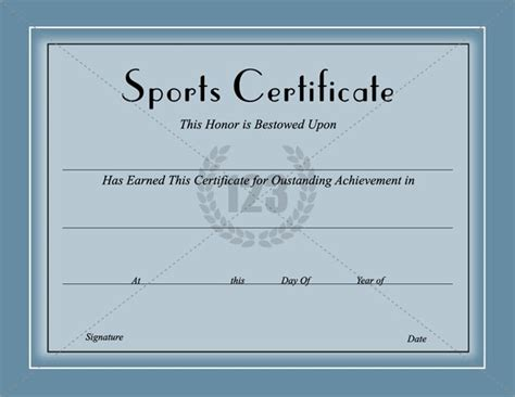 award    sports certificates template