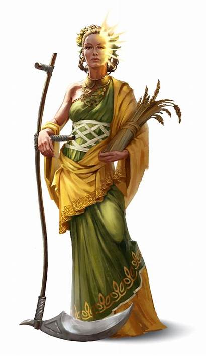 Dnd Female Goddess Pathfinder Harvest Cleric Characters