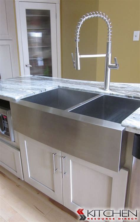 stainless steel apron sink white cabinets 17 best images about kitchen sinks faucets on pinterest