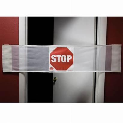 Door Safety Banner Secure Stop