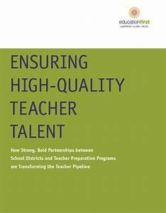 Ensuring High-Quality Teacher Talent - Education First ...