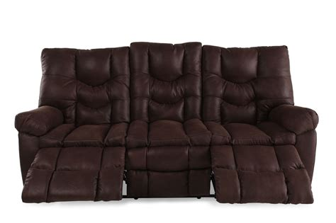 Reclining Sectional Sofas Microfiber by Microfiber 85 Quot Reclining Sofa In Russet Brown Mathis