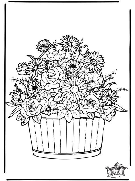 bloemen  kleurplaten bloemen